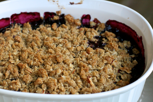 in times of need - summer fruit crisp - The Merry Gourmet