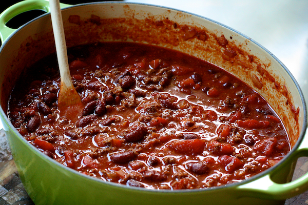 ushering in fall: hearty beef and bean chili