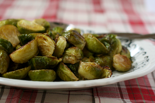 ... Brussels sprouts, one sprout at a time, without chewing once. Stewed
