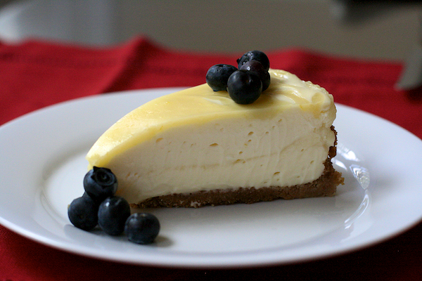 meyer lemon curd marbled cheesecake - The Merry Gourmet