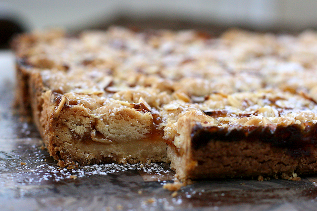 ... up for it, I'll share with her these apricot-almond shortbread bars