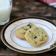 pistachio cherry icebox cookies-2