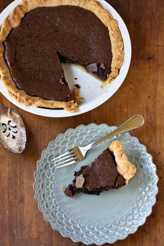 making pie: chocolate chess pie - The Merry Gourmet