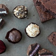 a chocolate gift box from chocolate gourmet - including their irresistible fudgy brownies