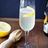 st honor 75 cocktail with champagne and meyer lemon