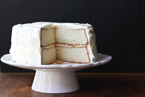 lemon layer cake with lemon cream cheese frosting | the merry gourmet