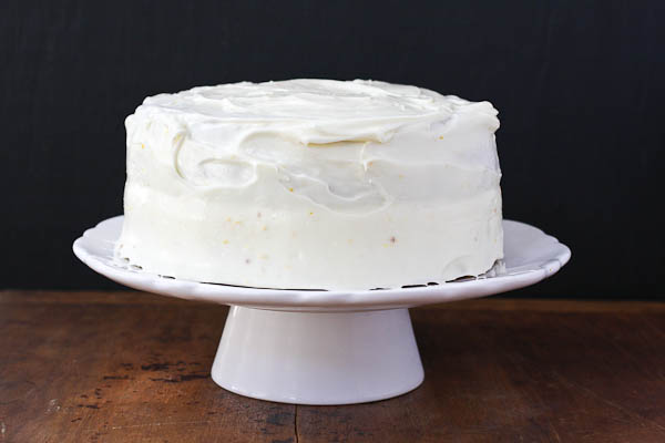 the cake walk, and a lemon layer cake with lemon cream cheese frosting