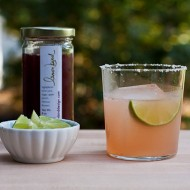 agave margarita with hibiscus-lime syrup
