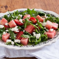 watermelon salad with basil vinaigrette
