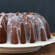 pound cake with cream cheese glaze