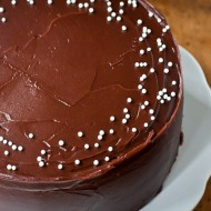yellow cake with chocolate frosting-2
