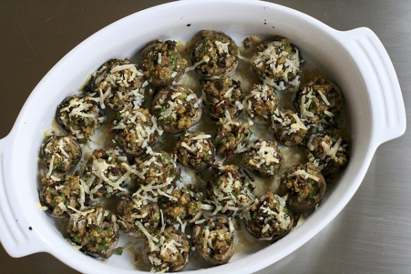 sun-dried tomato stuffed mushrooms | the merry gourmet