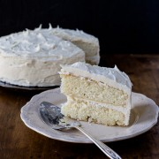 yellow cake with vanilla buttercream frosting | the merry gourmet