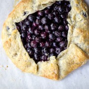 blueberry galette | the merry gourm