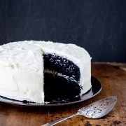 chocolate cake cream cheese frosting | the merry gourmet