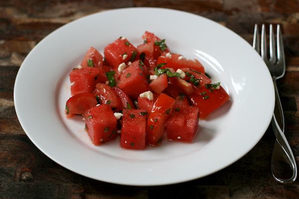 tomato and watermelon salad | the merry gourmet