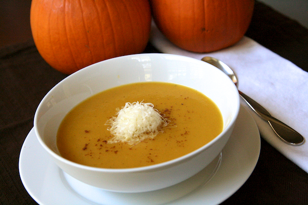 pumpkin soup with gruyère - The Merry Gourmet