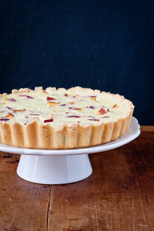 nectarine buttermilk tart | the merry gourmet