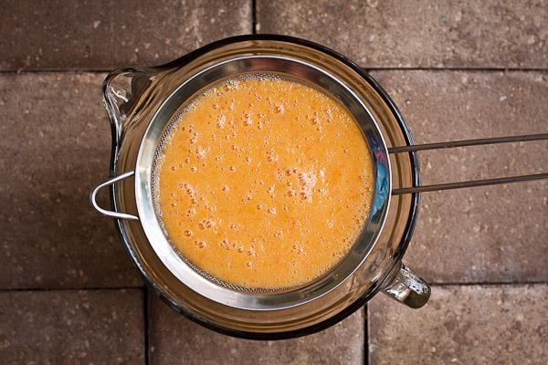 peach basil sorbet | the merry gourmet