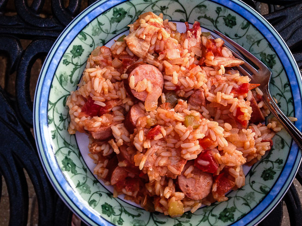 slow cooker chicken jambalaya | the merry gourmet