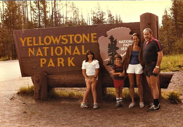 yellowstone national park, early 1980s