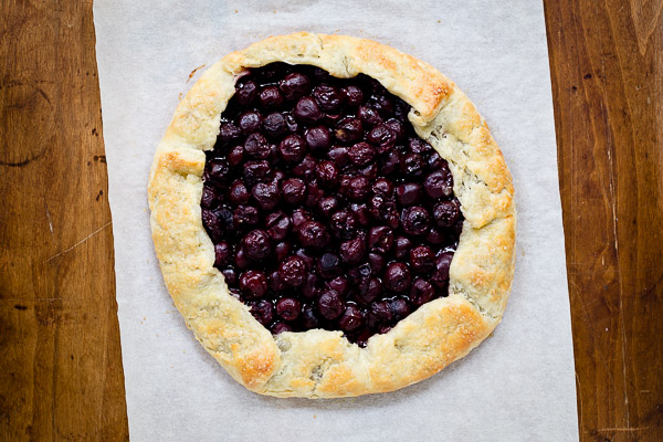 morello cherry galette | the merry gourmet