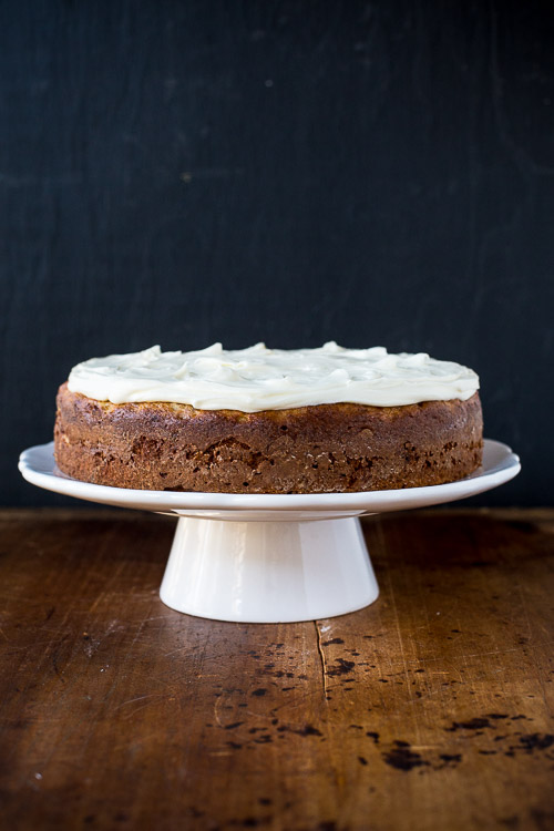banana cake with cream cheese frosting | the merry gourmet