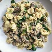 tortellini with italian sausage, fennel, and mushrooms | the merry gourmet